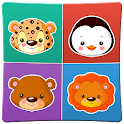 Animals memory game for kids 2 icon