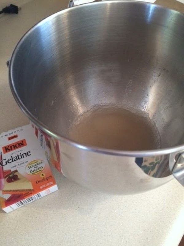 In a large mixing bowl (or in your stand mixer bowl), sprinkle the gelatin...