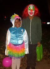 Photo: Happy Halloween from Rainbow Dash (of My Little Pony) and Scary Clown