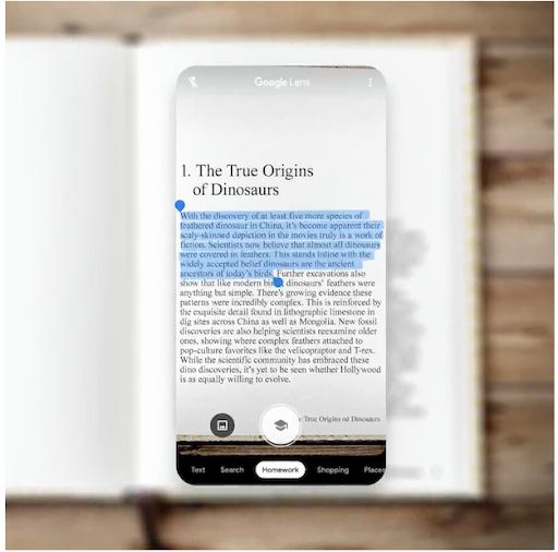 Mit Google Lens Text kopieren und auf dem PC einfügen
