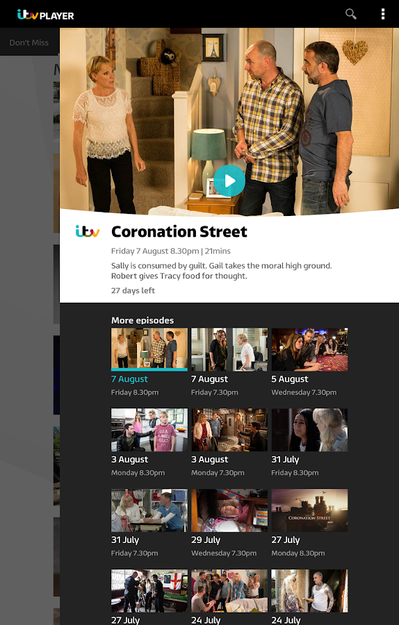 ITV Player- screenshot