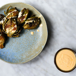 Roasted Baby Artichokes with Curried Yogurt Recipe