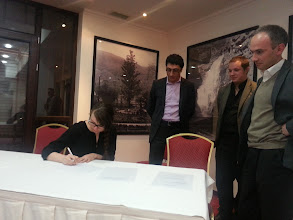 Photo: Launching event, 20 Apr 2013 Signature of MOU