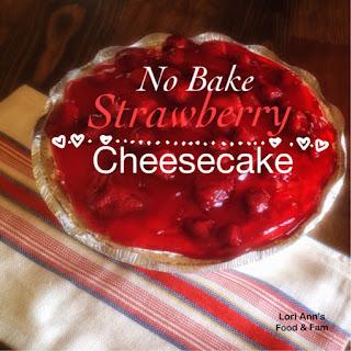 Easy {No Bake} Strawberry Cheesecake