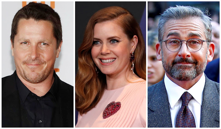 "Actors Christian Bale, Amy Adams and Steve Carell of political comedy ""Vice"", a satirical look at the career of former US vice president Dick Cheney, are seen in this combination photo. REUTERS/File Photos"
