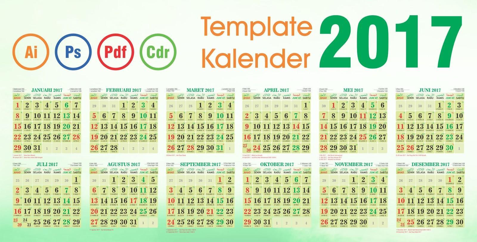 Kalender Indonesia 2017-