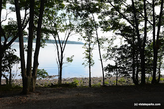 Photo: View from the cabins at Burton Island State Park