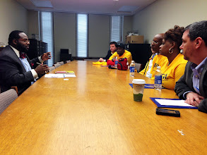 Photo: UFCW Local 1500 members lobbying for better jobs in NY