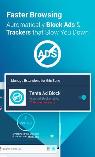 Tenta Private VPN Browser + Ad Blocker (Beta) 3.0.7 screenshots 2