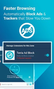 Tenta Private VPN Browser + Ad Blocker 2 Yrs FREE 2