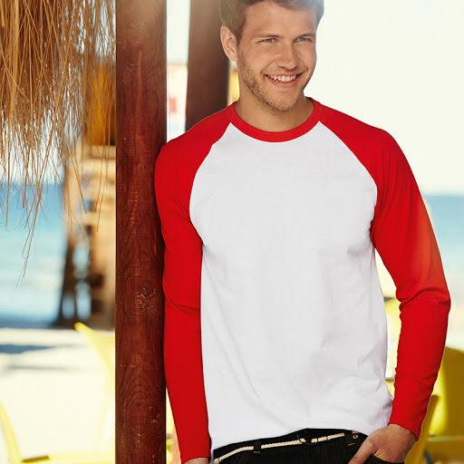 Fruit of the Loom Long Sleeve Baseball T Shirt