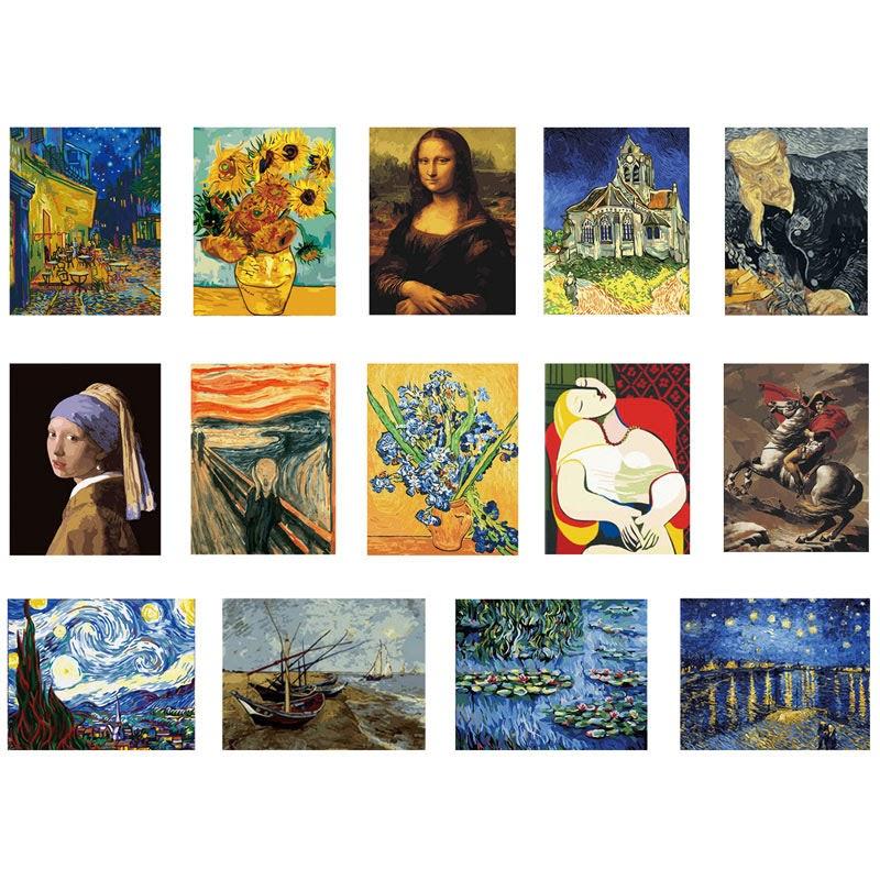 世界名畫數字油畫套裝