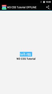 w3 css tutorial offline app screenshot thumbnail