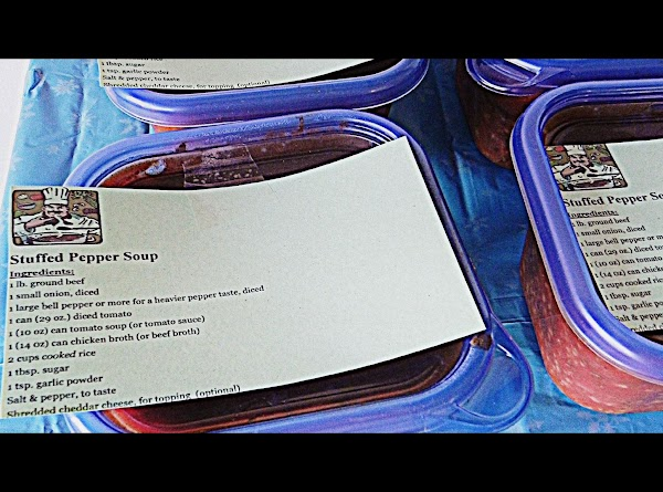 Print your individual recipe for the soup you made on a recipe card or...