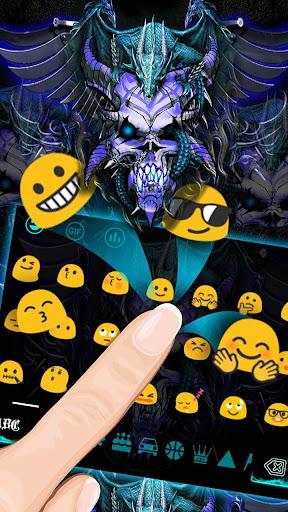 Blue Dragon Skull Keyboard Theme for PC
