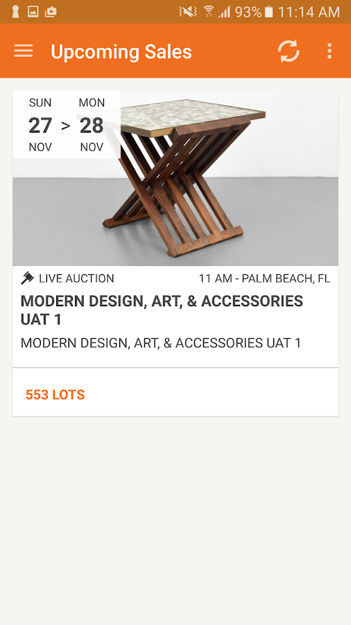 Palm Beach Modern Auctions- screenshot
