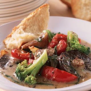 Mixed Vegetables with Mustard Sauce.
