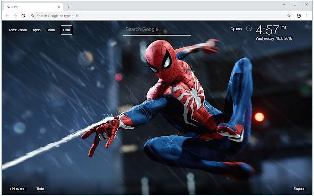 Spiderman Iron Man Wallpaper Custom New Tab