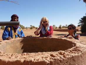 Photo: Checking if water well works, Nov 2012