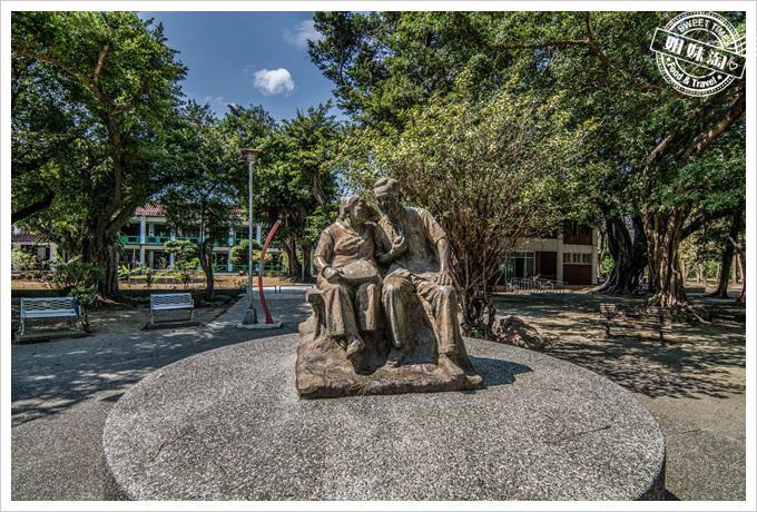 大東溼地公園老人活動中心雕像
