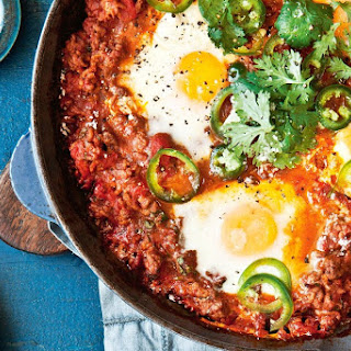 Mexican Eggs With Potato Hash