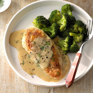 Chicken and Broccoli with Dill Sauce.