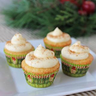 Mini Spiked Eggnog Cupcakes
