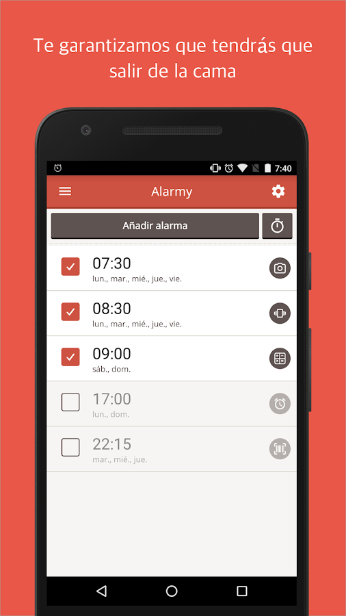 Alarmy(Sleep If U Can)- Alarma: captura de pantalla