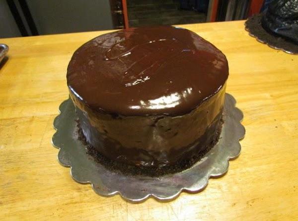 Three Layer Chocolate Ganache Cake Recipe