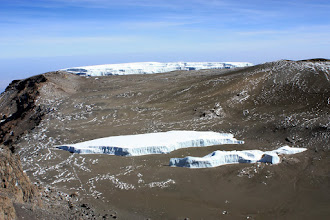 Photo: Once again: The Northern Ice Field in the back and the Furtwangler Glacier in the front