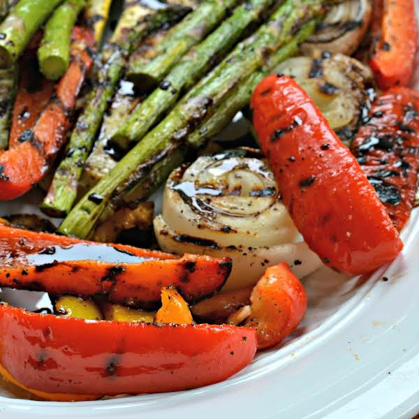 A Fun And Easy Grilled Vegetable Recipe With A Simple Balsamic Reduction Sauce.  The Perfect Side, Lunch Or Light Summer Dinner.