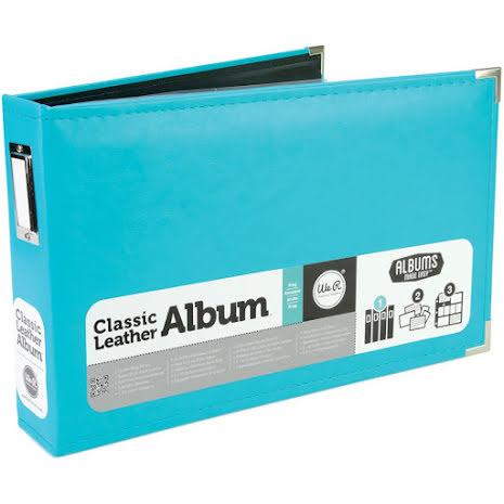 We R Memory Keepers Classic Leather Ring Photo Album 12X8 - Aqua UTGÅENDE