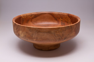 "Photo: Phil Brown 11"" x 5"" salad bowl [crab apple]"