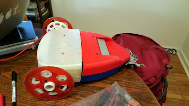 Photo: The robot with sharp teeth.