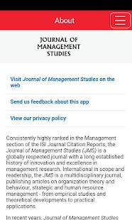 Journal of Management Studies- screenshot thumbnail