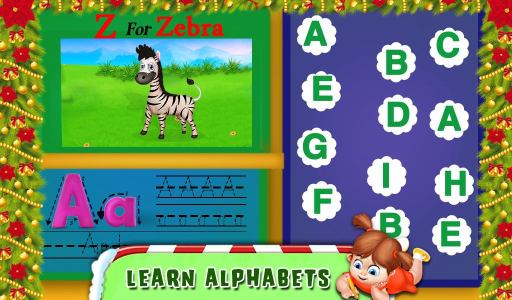 Christmas Preschool Letter Tracing Book Pages- screenshot
