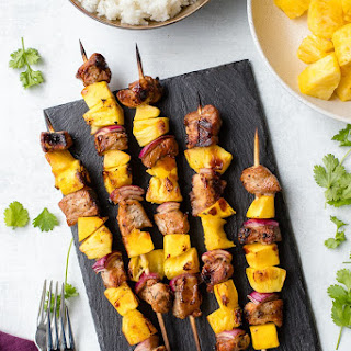 Pork Pineapple Kabobs with Grilled Mango Recipe