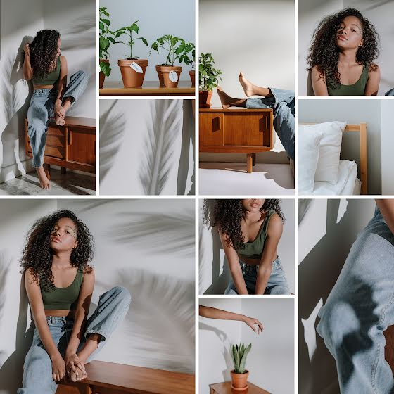 Denim Collage - Instagram Carousel Ad Template