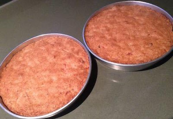 Bake cakes at 350 degrees F for 45 minutes or until cakes pull away...