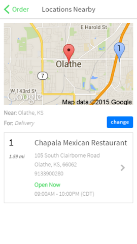 android Chapala Mexican Restaurant Screenshot 1