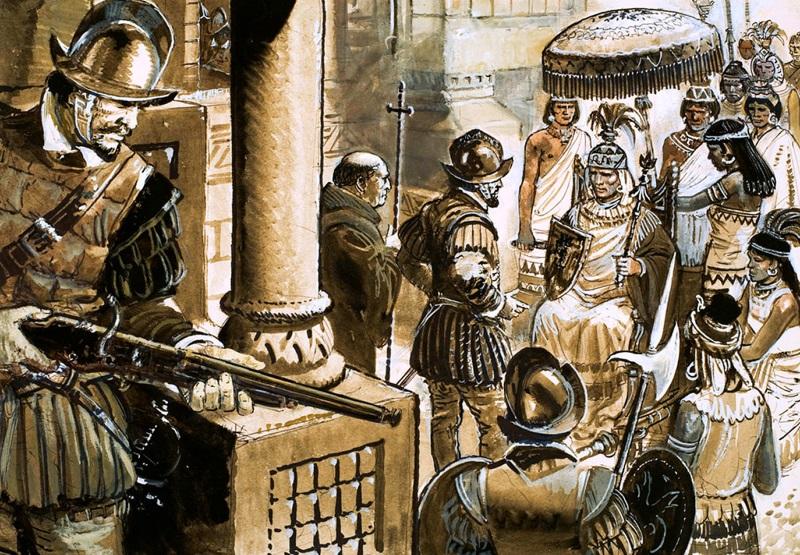 битва при кахамарке писарро атауальпа инки конкистадоры отвратительные мужики disgusting men