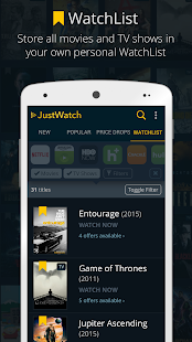 JustWatch – Search Engine for Streaming and Cinema 6