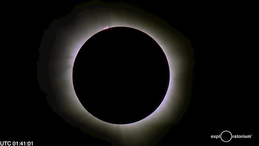 Imagen de un eclipse penumbral de Luna.