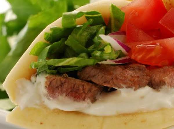 This Is A Traditional Gyro, Mine Is Made A Little Different With The Ingredients We Love, But The Taste Is There Of A Real Greek Gyro.