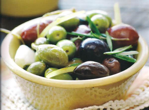 Mixed Olives With Lemon And Rosemary, Circa Recipe 1970
