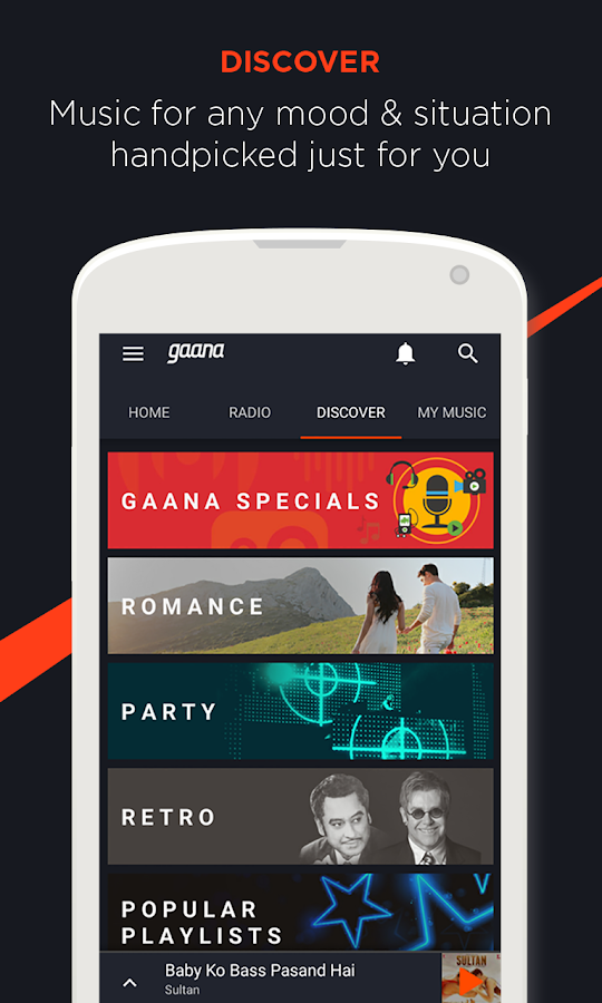 Screenshots of Gaana: Bollywood Music & Radio for iPhone