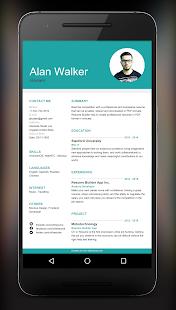 resume builder app screenshot thumbnail