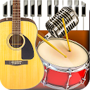 Band Live Rock 🎵 drum, bass, guitar, piano, mic APK