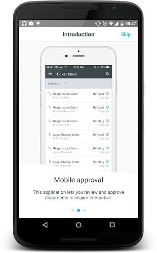 Inspire Mobile Approval