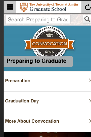 Graduation 2015- screenshot